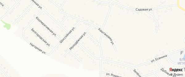Жемчужная улица на карте села Ближней Игуменки с номерами домов