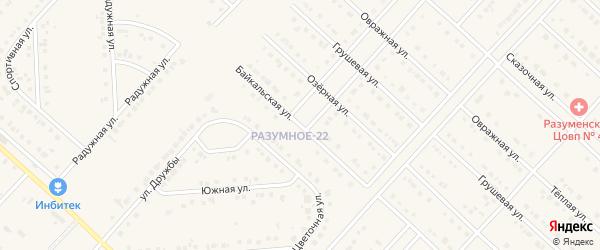 Байкальская улица на карте поселка Разумного с номерами домов