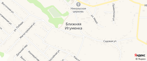 Фруктовая улица на карте села Ближней Игуменки с номерами домов