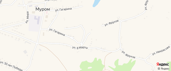Улица Ватутина на карте села Мурома с номерами домов