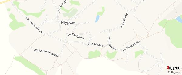 Карта села Мурома в Белгородской области с улицами и номерами домов