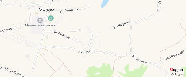 Улица Гагарина на карте села Мурома с номерами домов