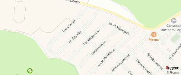 Прохладная улица на карте Беловского села с номерами домов