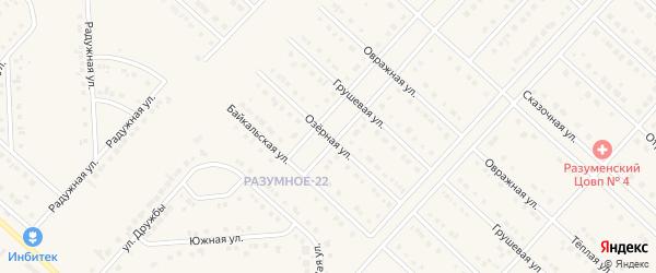 Озерная улица на карте поселка Разумного с номерами домов