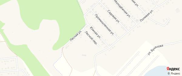 Лесной переулок на карте Беловского села с номерами домов