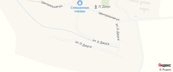 Улица Л.Джуса на карте села Малояблоново с номерами домов