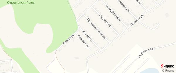 Южная улица на карте Беловского села с номерами домов