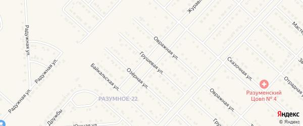 Грушевая улица на карте поселка Разумного с номерами домов