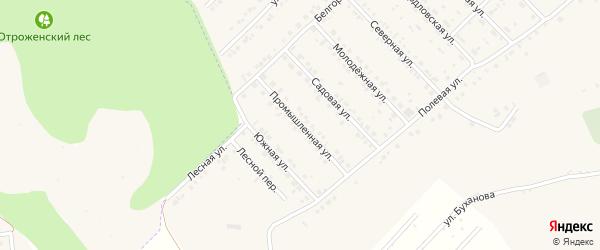 Промышленная улица на карте Беловского села с номерами домов