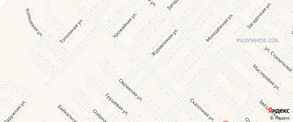 Журавлиная улица на карте поселка Разумного с номерами домов