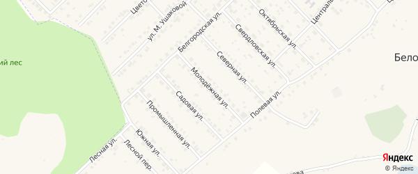 Молодежная улица на карте Беловского села с номерами домов