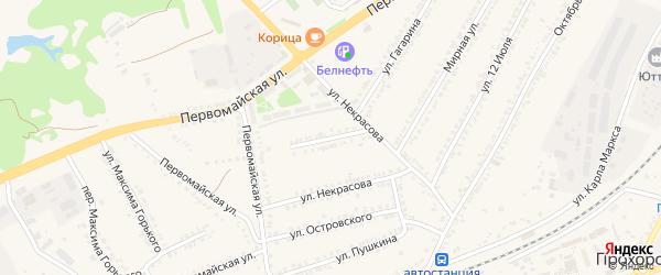 Мирный переулок на карте поселка Прохоровка с номерами домов