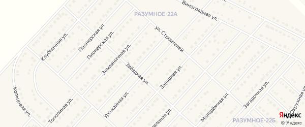 Урожайная улица на карте поселка Разумного с номерами домов