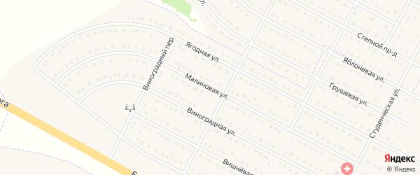 Малиновая улица на карте села Ближней Игуменки с номерами домов