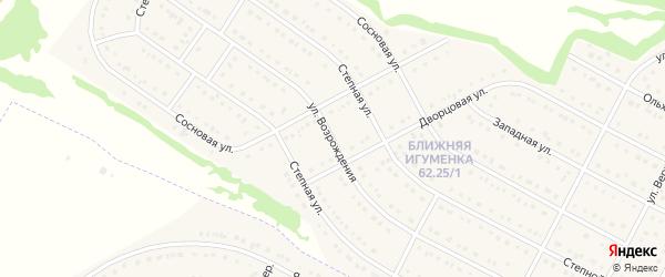 Улица Возрождения на карте села Ближней Игуменки с номерами домов