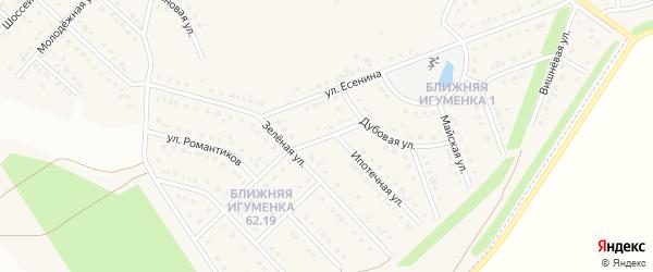 Песочный переулок на карте села Ближней Игуменки с номерами домов