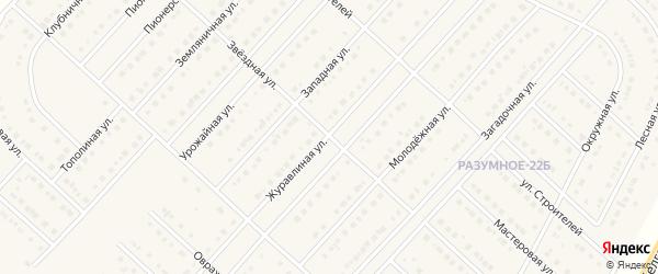 Звездная улица на карте поселка Разумного с номерами домов