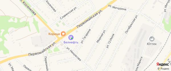 Улица Гагарина на карте поселка Прохоровка с номерами домов