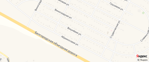 Вишневая улица на карте села Севрюково с номерами домов