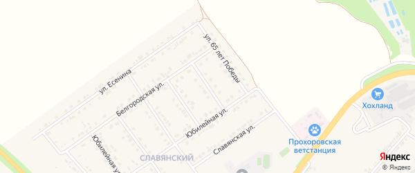 Алданский переулок на карте поселка Прохоровка с номерами домов