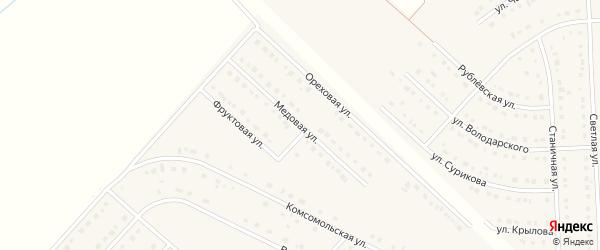 Медовая улица на карте поселка Разумного с номерами домов