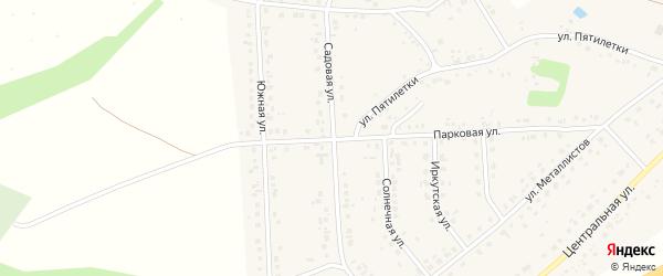 Садовая улица на карте села Дальней Игуменки с номерами домов