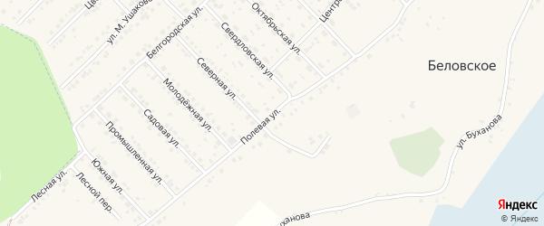Полевая улица на карте Лозового села с номерами домов