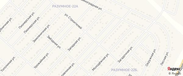 Улица Строителей на карте поселка Разумного с номерами домов