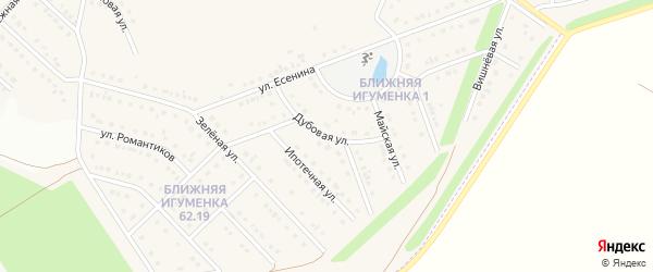 Дубовая улица на карте села Ближней Игуменки с номерами домов