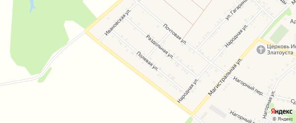 Полевая улица на карте села Графовки с номерами домов