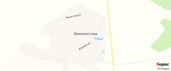 Карта Жимолостного села в Белгородской области с улицами и номерами домов