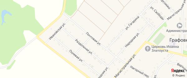 Почтовая улица на карте села Графовки с номерами домов