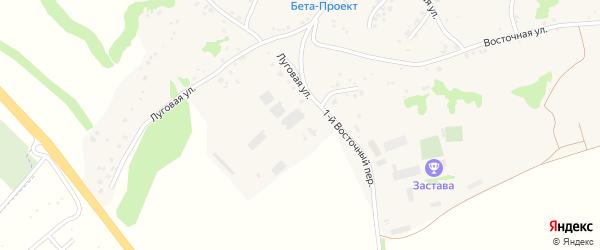 Восточный 1-й переулок на карте села Крутого Лога с номерами домов