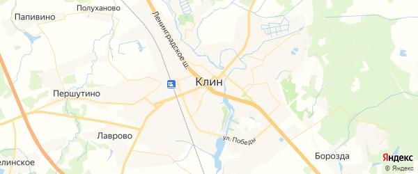 Карта Клина с районами, улицами и номерами домов: Клин на карте России