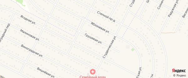 Грушовая улица на карте села Севрюково с номерами домов