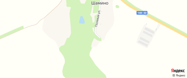 Полевая улица на карте поселка Шамино с номерами домов