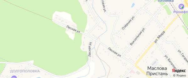 Лесная улица на карте поселка Маслова Пристани с номерами домов