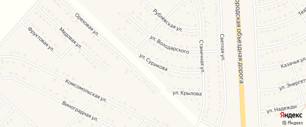 Улица Сурикова на карте поселка Разумного с номерами домов