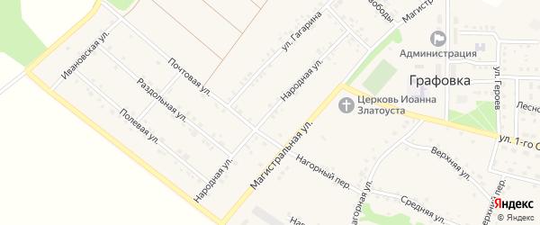 Народная улица на карте села Графовки с номерами домов