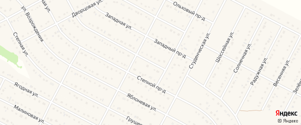 Сосновый проезд на карте села Ближней Игуменки с номерами домов