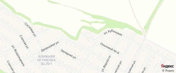 Ольховая улица на карте села Ближней Игуменки с номерами домов
