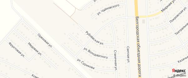 Рублевская улица на карте поселка Разумного с номерами домов