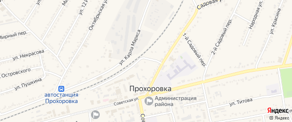 Улица 70 лет Прохоровского сражения на карте поселка Прохоровка с номерами домов
