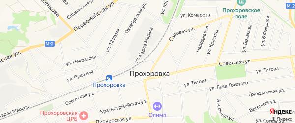 СТ Долина здоровья на карте поселка Прохоровка с номерами домов
