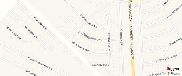 Улица Володарского на карте поселка Разумного с номерами домов