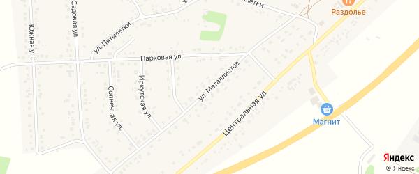 Улица Металлистов на карте села Дальней Игуменки с номерами домов
