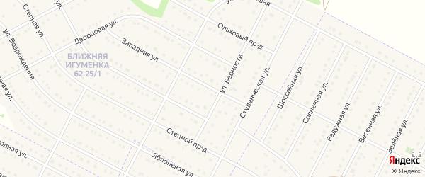 Западный проезд на карте села Ближней Игуменки с номерами домов