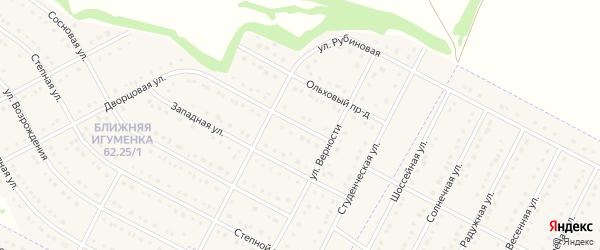 Дворцовый проезд на карте села Ближней Игуменки с номерами домов