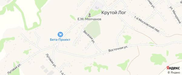 Веселая улица на карте поселка Разумного с номерами домов
