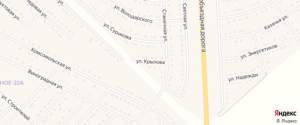 Улица Крылова на карте поселка Разумного с номерами домов